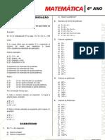 Matematica 6 Ano Lista de Matematica 2 Bim