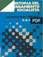 Cole Douglas Howard Historia Del Pensamiento Socialista 1