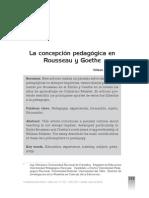 La Concepción Pedagógica en Rousseau y Goethe