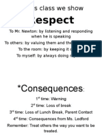 class rules and consequences