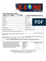 2009 Arts Camp Registration Form