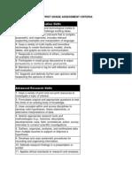 kindergarten and first grade assessment criteria