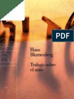 Hans Blumemberg-Trabajo Sobre El Mito