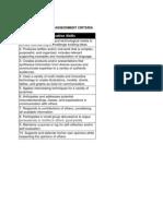 third-fifth assessment criteria