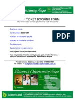 Business Expo Entry Booking Form