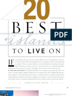 Islands Magazine Best Islands to Live on 2007