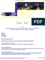 Certified Information Systems Risk and Compliance Professional (CISRCP)