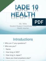 Health Lesson 1