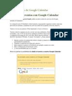 Manual Google Calendar