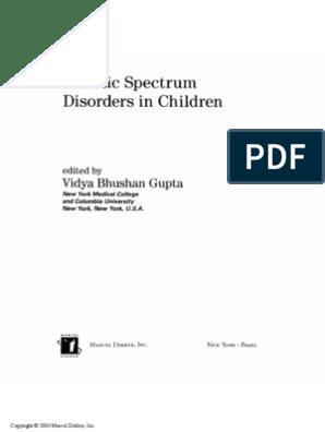 Autistic Spectrum Disorders in Children | Pervasive