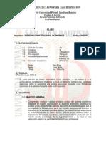SILABO Derecho Constitucional Económico - IV ciclo
