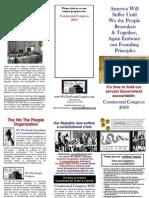 """Continental Congress"" CC2009 TriFold A"