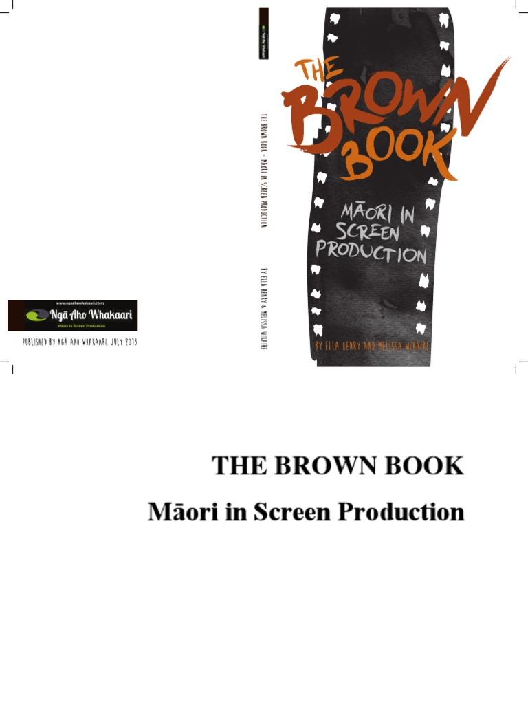 The Brown Book Mori In Screen Production Mori People Mori