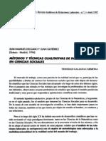 Delgado & Gutierrez - Metodos y Tecnicas Cualitativas de Investigación en Ciencias Sociales