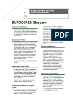 EUROCORES-glossary-February 09
