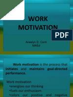 Work Motivation