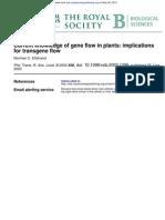 2003, Ellstrand, Current Knowledge of Gene Flow in Plants