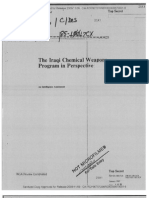 Intelligence Assessment of Iraqi Chemical Weapons Program