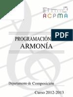 PROGRAMA DE ARMONÍA