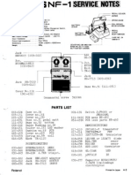 Boss NF-1 Service Notes
