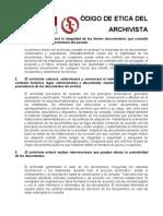 codigo etica archivo