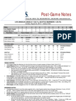 08.25.13 Post Game Notes