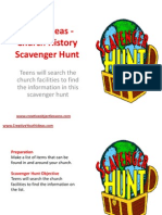 Youth Ideas - Church History Scavenger Hunt
