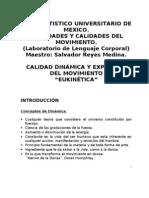 1.- CALIDAD DINÁMICA Y EXPRESIVA DEL MOVIMIENTO