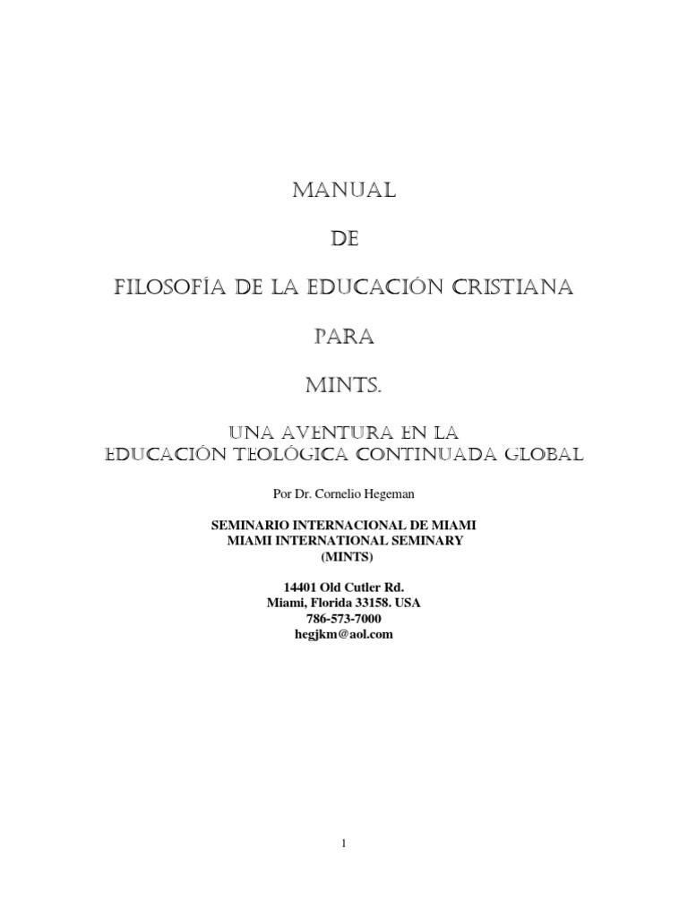 Filosofia Educacion Cristiana MINTS 0105