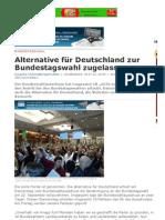 Alternative für Deutschland zur Bundestagswahl zugelassen _ DEUTSCHE WIRTSCHAFTS NACHRICHTEN