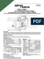Hoja Tecnica Trampa Vapor Td62