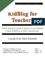Kidblog User Guide