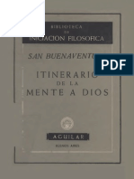 Itinerario de La Mente de Dios San Buenaventura Iniciacion Filosofica