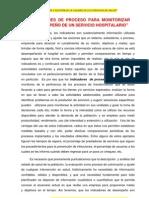 INDICADORES DE PROCESO PARA SEGUIMIENTO DEL DESEMPEÑO DE UN SERVICIO HOSPITALARIO
