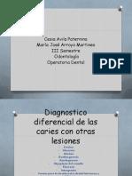 Diagnostico Diferencial de Caries Con Otra Lesiones