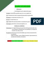 Formulario de Biologia 1 de Jaime e Ignacio
