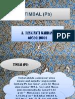 Ppt Bioanorganik Timbal (Pb)