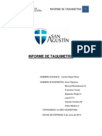 Informe de Taquimetria