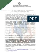 Convocatoria y Requisitos Programas de Movilidad UNCo