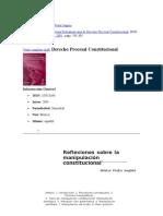 Manipulacion Constitucional Pedro Sagues