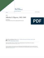Milenko S. Filipović (1902-1969) Biography