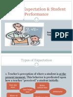 Teacher Expectation Student Performance