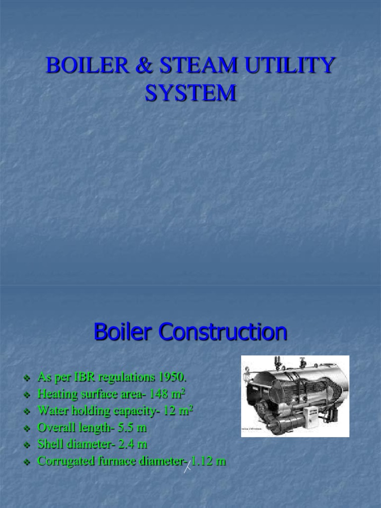 Boiler specification with mountings | Boiler | Valve