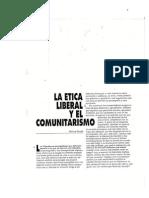 Michael Sandel Ética liberal y comunitarismo