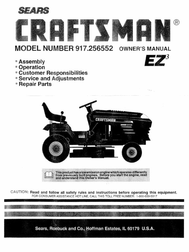 craftsman lawn tractor 917 256552 tractor clutch