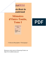 12091 FRANCOIS RENE de CHATEAUBRIAND Memoires Doutre Tombe Tome i [InLibroVeritas.net]