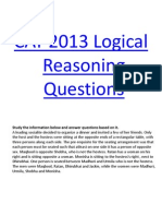 Logical Reasoning Question Bank