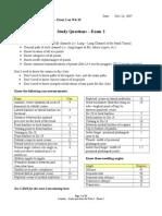 Pt Loc 1 - Study Questions Exam 2-1