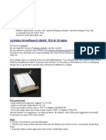 Arduino Breadboard Shield $10 & 10 Mins