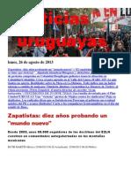 Noticias Uruguayas Lunes 26 de Agosto Del 2013